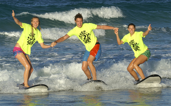 Surfing is easy with Scarborough Beach Surf School