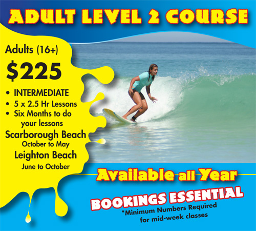 Adults Level Two Surf Course Scarborough Beach