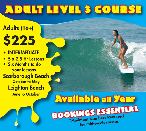 Adults Level Three Surf Course Scarborough Beach