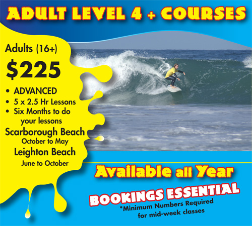 Adults Level Four Surf Course Scarborough Beach