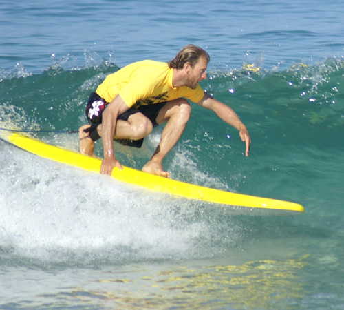 Man Surfing at Scarborough Beach